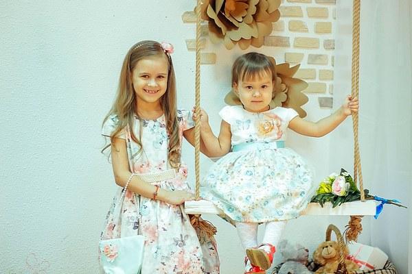 Платья с цветами детские