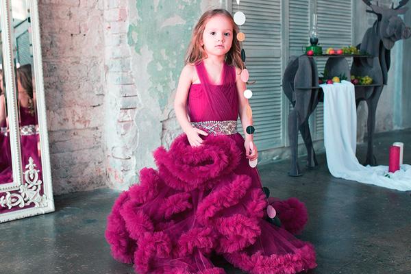Детское платье облако